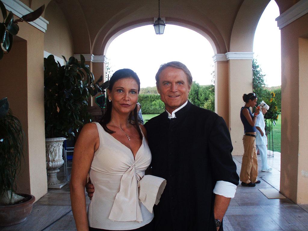 Rita Colantonio con Terence Hill sul set