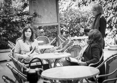Sul set con Elisabetta Tescari e il regista Stefano Usardi