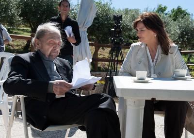 Sul set con Sergio Fiorentini mio padre nel film