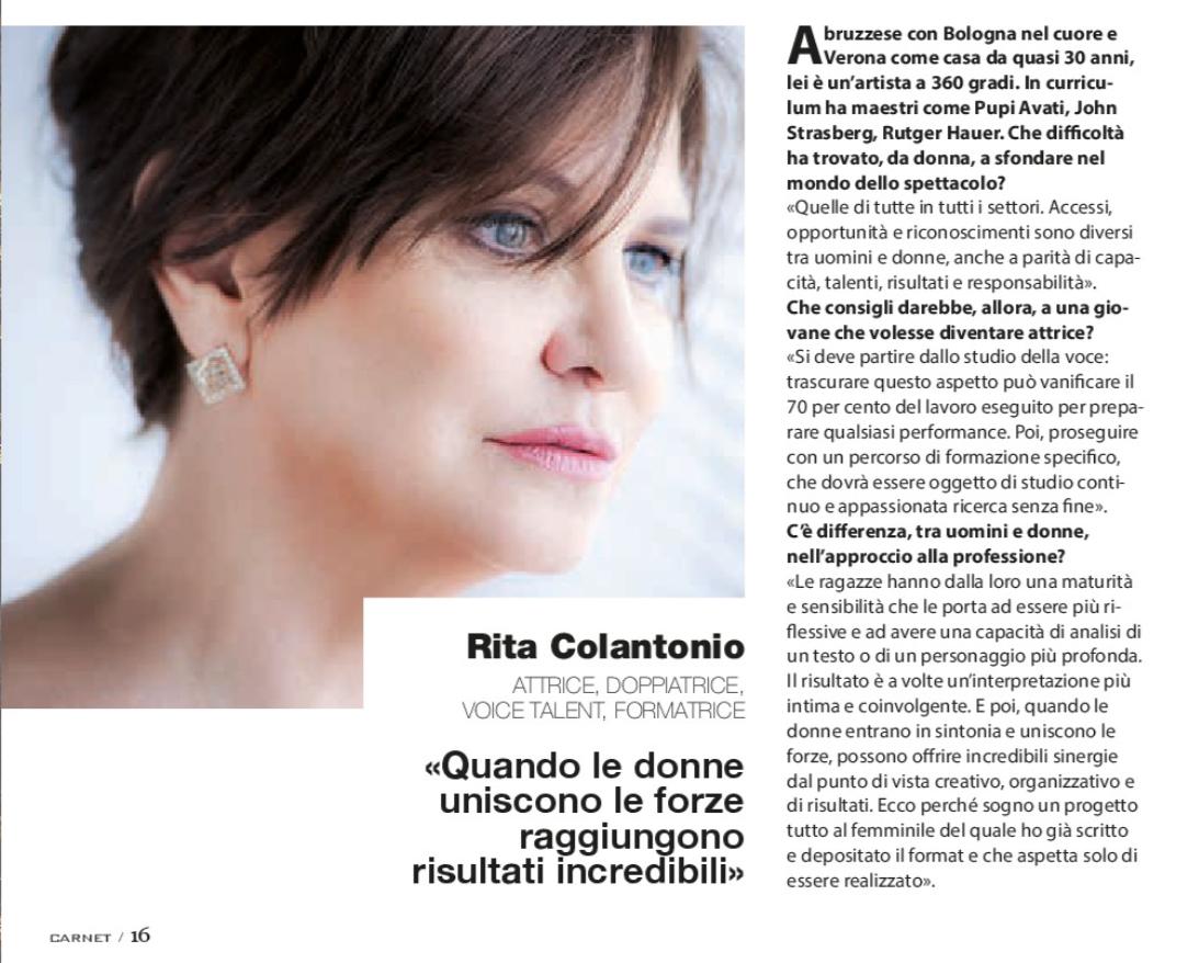 Rit Colantonio su Carnet Verona